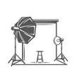 photo studio element isolated on white background vector image vector image