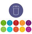 salt shaker icons set color vector image