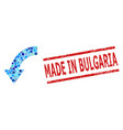 scratched made in bulgaria seal and rotate down vector image vector image