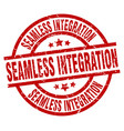 seamless integration round red grunge stamp vector image vector image