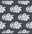seamless pattern plumeria flowers vector image vector image