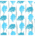 seamless pattern with contour lacy light blue vector image vector image