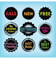 set black and colorful labels and badges set vector image