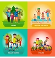 set family or healthy lifestyle concepts vector image