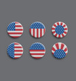 set of 3d badges with american flag vector image