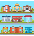 Set of streets vector image