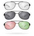 set sunglasses and eyeglasses vector image