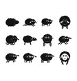 sheep cute lamb farm iicons set simple style vector image