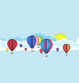sky with hot air balloons vector image vector image