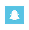 snapchat icon design vector image