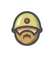 soldier military army icon cartoon vector image vector image