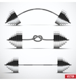 Sport symbols barbells classic arched and tied in vector image vector image
