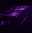 tech background with purple elements vector image vector image