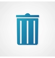 trash can icon is blue vector image