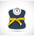 weighing scales with measuring tape weight loss vector image