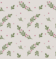 winter seamless pattern christmas elements in vector image