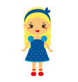 kid girl in fashionable clothes cute baby girl in vector image