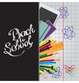 Calligraphic Back to school with set vector image