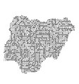 abstract schematic map of nigeria from the black vector image vector image