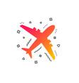 airplane sign plane symbol travel icon vector image