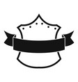 badge king icon simple black style vector image vector image