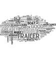 basic trailer maintenance text word cloud concept vector image vector image