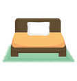 bed wooden forniture icon vector image