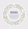 boxing poster template sport training line vector image vector image