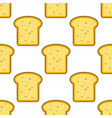 bread slice toast seamless pattern on white vector image