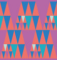 bright bunting style pink and blue triangle design vector image
