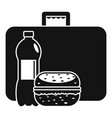 business lunch icon simple style vector image