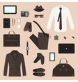 Business Man Concept Set vector image