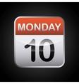 Calendar icon Planner design graphic vector image