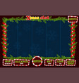 christmas slot game ui interface and buttons vector image vector image