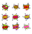 comic text speech bubble pop art set offer goal vector image