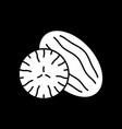 cut fruit dark mode glyph icon vector image vector image