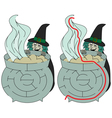 Easy witch maze vector image vector image