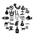 egypt icons set simple style vector image vector image