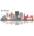 el paso texas skyline with gray buildings and vector image vector image