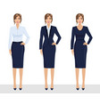 elegant pretty business woman in formal clothes vector image vector image