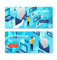email box message online phishing banners vector image