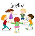 english vocabulary word of joyful vector image vector image