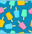 eskimo pixel art pattern seamless ice cream 8 bit vector image vector image