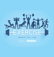 exercises conceptual design background vector image vector image