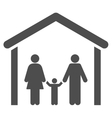 Family Cabin Flat Icon vector image vector image