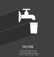 faucet glass water icon symbol Flat modern web vector image