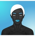 Female Model with blue glossy Lips vector image vector image