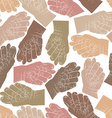 Fig fico hands seamless pattern background for vector image vector image