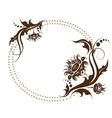 floral frame for design invitation vector image vector image
