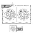 game black find 9 differences emotions vector image vector image